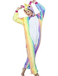 Unicorn Pajamas Costume Adult Onesie For Women Men Teens Animal Onsie PJ