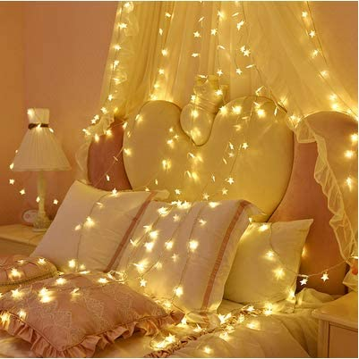 Led Kleine Laternen String Voller Sterne Schlafzimmer Dekoration Romantischen Layout Sterne Lichter Warmes Licht Batterie Abschnitt 3m Amazon De Beleuchtung
