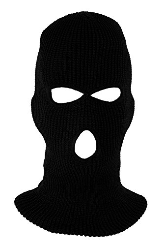 TOOGOO(R) Mask Cagoule 3-Hole Hood Intervention Commando Black Panther - Police - Swat - GIGN - raid - Special Forces - Airsoft- Paintball - Skiing - Snow - Surf - Mountain - Outdoor