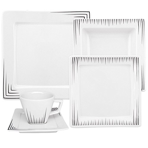 - Oxford Nara Venue 30 Piece Porcelain Dinnerware Set