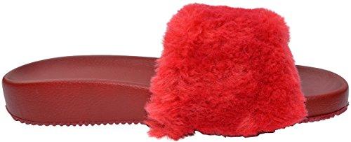 Women's Flip Ezstep Veronica Red Flop Fur Sandals n68W0Wqwz