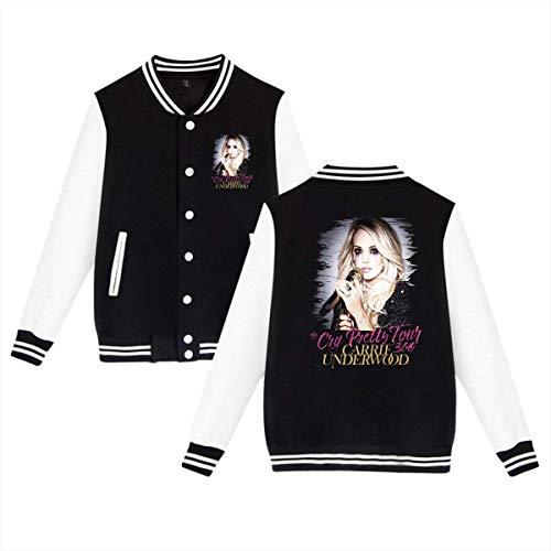 Mr.ChenFang Man's Cry Pretty Tour 360 Carrie Underwood Sport Coat Black ()