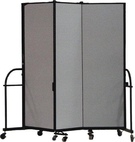 (Screenflex Heavy Duty Portable Room Divider (HFSL603-DG) 6 Feet High by 5 Feet 9 Inches Long, Designer Stone Fabric)