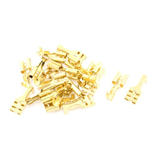20 Pcs 6.3mm Female Cable Crimp Terminal Connector