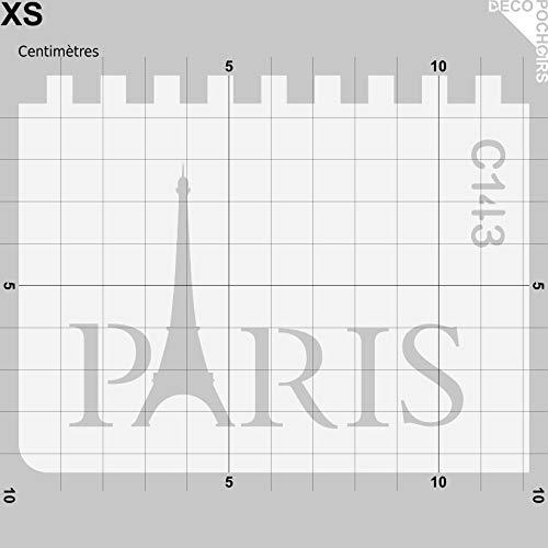 Taille XS Feuille 94x121 mm decopochoirs Pochoir Paris Tour Eiffel