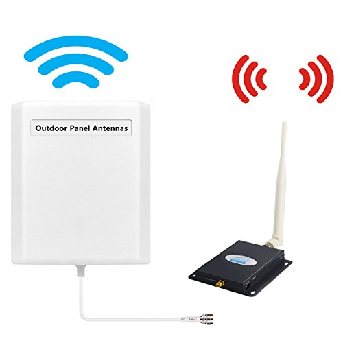 Cell Phone Signal Booster AT&T T-mobile 4G LTE Cell Booster HJCINTL FDD High Gain 700Mhz Band 12/17 4G Signal Booster Home Mobile Phone Signal Repeater Amplifier Kit