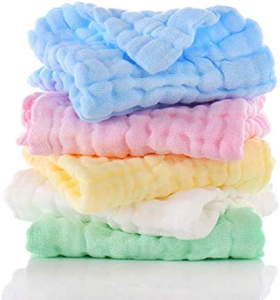 Muslin Cloths for Baby Burp Cloths Newborn Essentials Unisex Bibs Baby Girl Baby Boy Bulk 5 Pack 100/% Cotton Fabric Squares Newborn Baby Muslin Cloth Extra Absorbent Super Soft Organic Washable UK