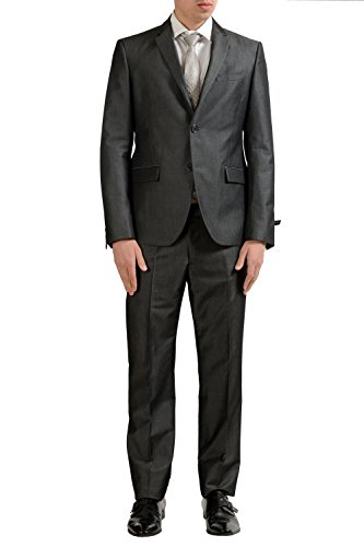 Fendi Men's Gray Wool Two Button Suit US 40 IT (Fendi Wool)