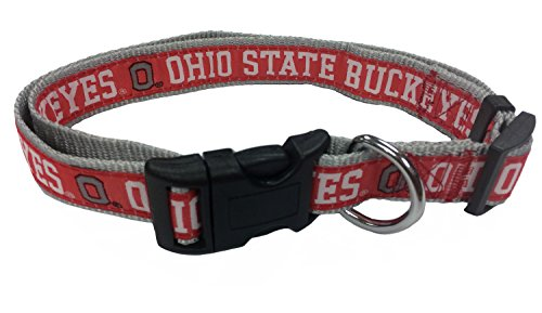 Pets First Collegiate Pet Accessories, Dog Collar, Ohio State Buckeyes, Large