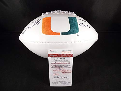 Clinton Portis Autographed Signed Memorabilia Miami Hurricanes Football - JSA Authentic