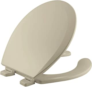 product image for BEMIS 550TTT 006 Open Front Toilet Seat will Never Loosen and Provide the Perfect Fit, ROUND, Durable Enameled Wood, Bone