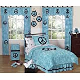 JoJo Designs Peace Blue Bedding: Peace Blue Queen
