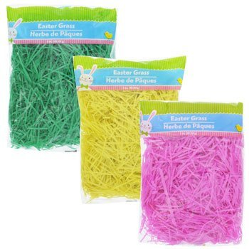 Easter Basket Grass 3x3 oz Bag (Green, Yellow, Pink) -