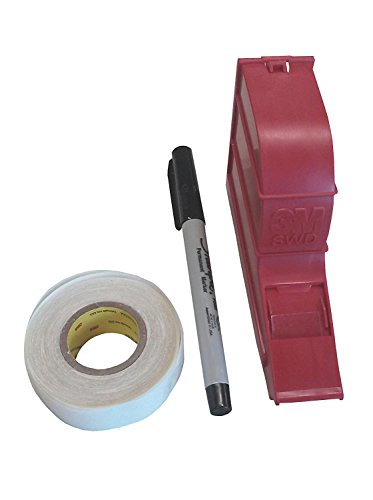- 3M(TM) ScotchCode(TM) Wire Marker Write-On Dispenser with Tape and Pen SWD, 0.75 in x 1.375 in