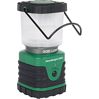 NovaBright 300X - LED Lantern with 3 Lighting Modes - Camping and Outdoors (300 Lumen) - Forest Green