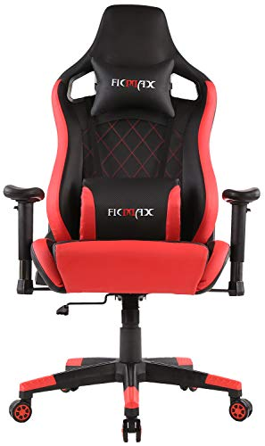 Ficmax Massage Gaming Chair Ergonomic Computer Gaming Chair Carbon Fiber Texture Racing Chair High Back Reclining Gaming Office Chair Large Size Gamer Chair with Headrest and Lumbar Support