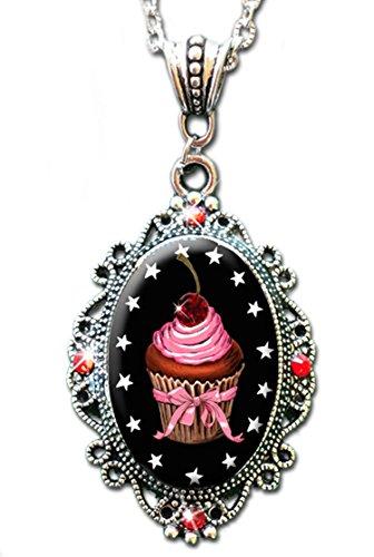 Alkemie Cupcake Cameo Sparkles Necklace