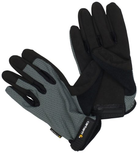 Carhartt Men's Ventilated Glove, Grey/Black, X-Large