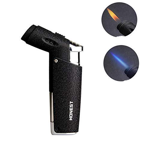 - Cigar Lighter Jet Torch Soft Flame or Jet Flame Changeable Butane Gas Refillable Windproof Cigarette Tobacco Lighter