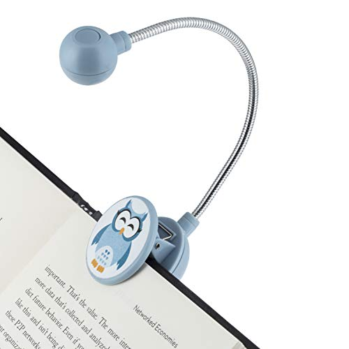 Disc Reading Light by WITHit - LED Book Light with Chrome Neck for Books, E-Reader and E-Book Light... (Sleepy Owl) -