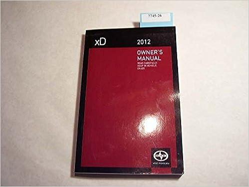 Amazon.com: 2012 Scion xD Owners Manual: Toyota Motor ...