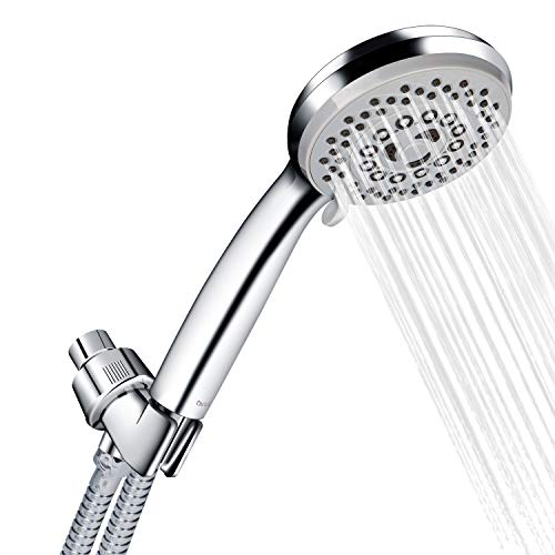 Chrider Handheld Shower Head with Hose, High Pressure 5 Spray Settings Detachable Hand Held Shower Head, 4