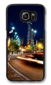 Atlanta at night Custom Samsung Galaxy S6/Samsung S6 Case Cover Polycarbonate Black