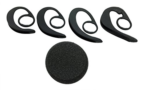 01 Ear Loop Kit (Plantronics Set of 4 Spare Ear Hooks for CS50 CS50-USB CS55 CS55H CS55 Micro CS60 CS60-USB CS60 Micro C65 M3000 M3500 Avaya AWH55 AWH-65 AWH55+ AWH65+ AWH65 USB - Free AvimaBasics Cushion Included)