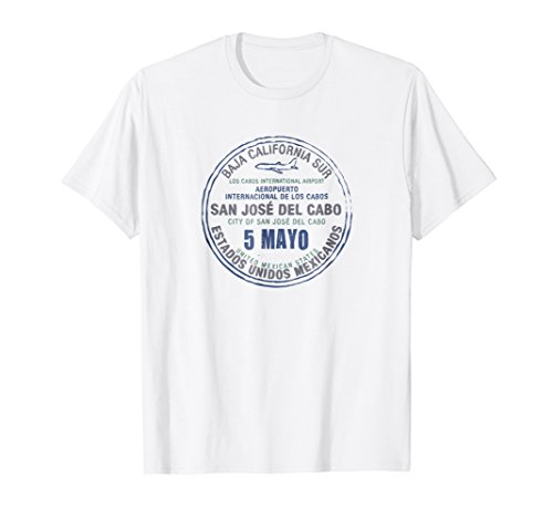Cabo Mexico May 5 Passport Stamp Travel Tshirt -