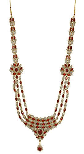 Bollywood indien Style Superbe Plaqué or Pierre de Cristal de mariage Ensemble de collier pour femme Mariage