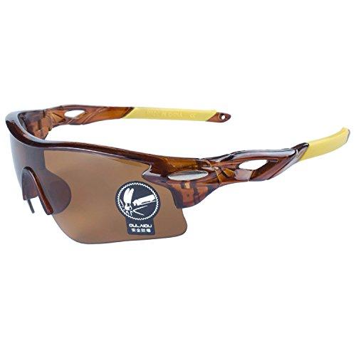 Gafas Montura Deportes Lentes Pesca De Gafas La De Al Gafas Sol Conducción Marrón Para de Moda ANVEY Aire Libre Marrón Bicicleta Ciclismo Amarillo R5wxzqvw8