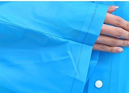 Campeggio Blu Camminata in Montagna Ciclismo Poncho Impermeabile Pioggia Portatile con Cappuccio e Maniche Antipioggia per Escursionismo Pesca o Caccia