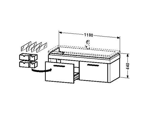 Duravit Waschtischunterschrank wandhängend 2nd floor 490x1180x440mm 2 Auszüge, für 049112, eiche ant