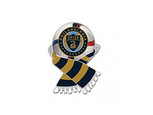 Wincraft Philadelphia Union MLS Navy & Gold Soccer Scarf Metal Lapel Pin