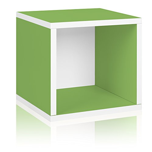 Way Basics 11.2 L x 13.4 W x 12.8 H Eco Stackable Storage Cube and Cubby Organizer, Green (Tool-Free Assembly and Uniquely Crafted from Sustainable Non Toxic zBoard paperboard)