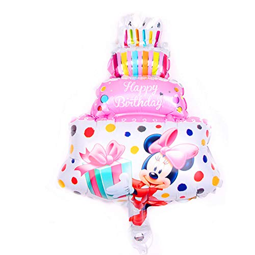 1 piece New 1pcs mini cartoon Mickey Minnie baby cake aluminum balloons birthday party balloons wholesale children's toys -