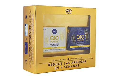 Nivea Q10 Power Dia y Noche, Set de Cremas para Reducir las Arrugas en 4 Semanas, Caja de Regalo con Crema de Dia con Protector Solar 15 y Crema de Noche, (2 x 50 ml)