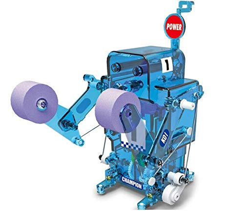 Boxing Fighter Robots Toy - potato & straw DIY Remote Boxing Robot.Fighter Telerobot Building Blocks Toys Children Kids Gift Assembly Educational Puzzle Toy (Blue)