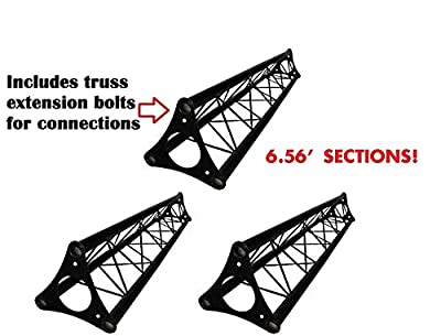 20' ft Wide Crank Triangular Trussing Mobile DJ Lighting Truss System Triangle by CedarsLink