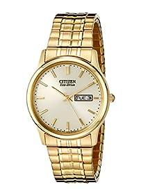 Citizen Men's BM8452-99P Eco-Drive Flexible Band Gold-Tone Watch