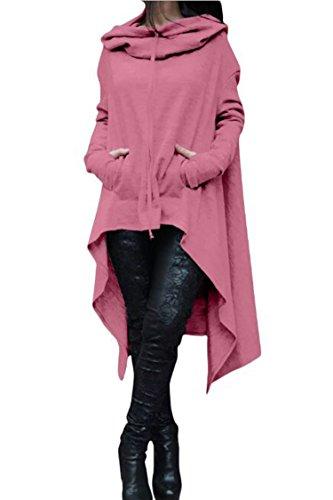 Herose Girls Active Everyday Wear Soft Shirt Cotton Sweatshirt Dress 16W/Tag3XL Pink