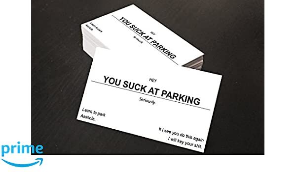 Amazon aahs engraving novelty business cards you suck at amazon aahs engraving novelty business cards you suck at parking office products colourmoves