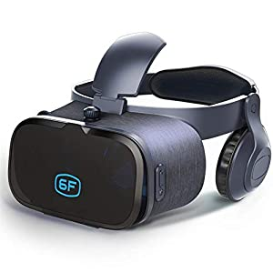 DBGS VR Goggles for Killing Time from Home, VR Glasses Headset for Smartphone Screen of 6.0 Inches Virtual Reality Game Helmet Immersive Home Theater