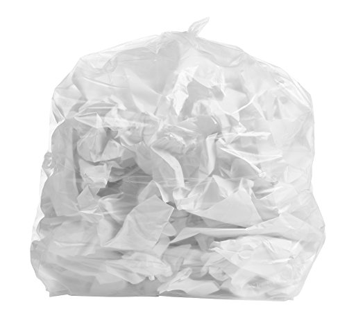 PlasticMill 33 Gallon Clear Garbage Bags,1.3 Mil,100 Bags/ Case (3339)
