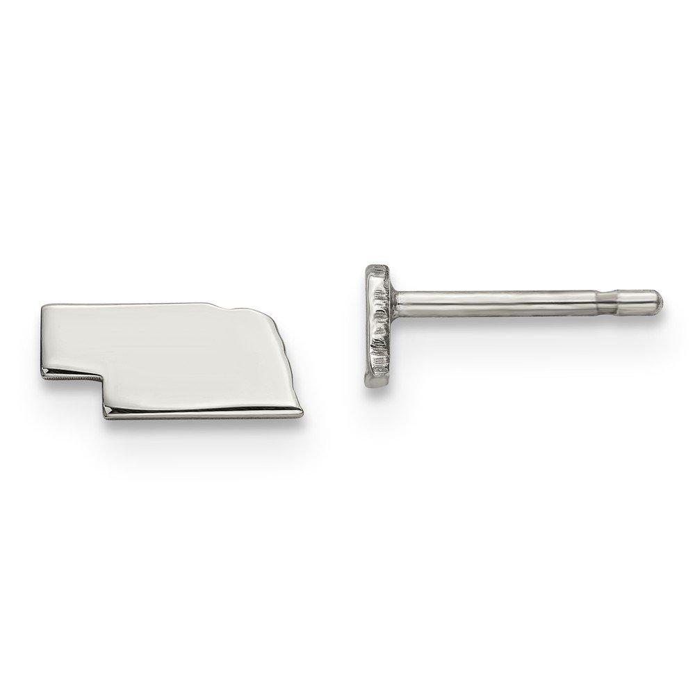 Mia Diamonds 925 Sterling Silver NE Small State Earring