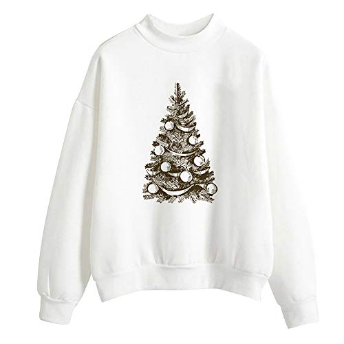 Clearance Sale for Women Tops.AIMTOPPY Women Christmas Print Long Sleeve Ladies Blouse Pullover Tops Shirt Sweatshirt from AIMTOPPY top