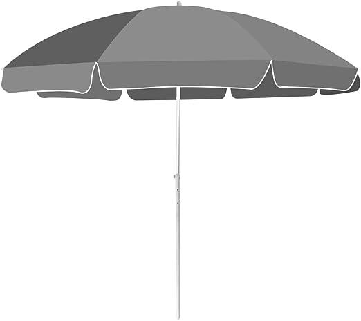 Festnight Sombrilla 300 cm Parasol para Terraza Jardín Playa Gris ...