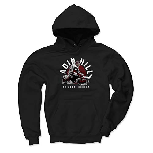 - 500 LEVEL Adin Hill Arizona Coyotes Hoodie Sweatshirt (Medium, Black) - Adin Hill Emblem R WHT