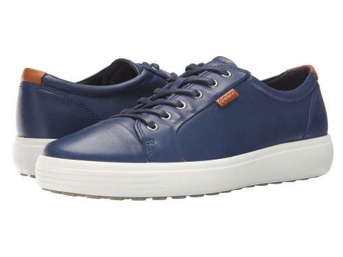 ECCO(エコー) メンズ 男性用 シューズ 靴 スニーカー 運動靴 Soft VII Sneaker - True Navy [並行輸入品] B07C8GMFG9