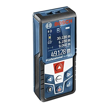 Bosch Professional GLM 50 C - Medidor lá ser de distancias (alcance 50 m, inclinó metro, conexió n Bluetooth, con funda) inclinómetro conexión Bluetooth 0601072C00 Bosch Profesional